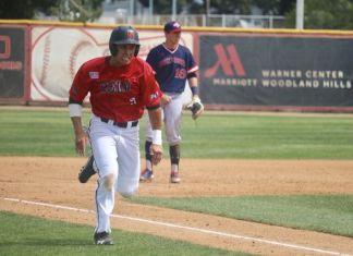 csun player runs to the next base