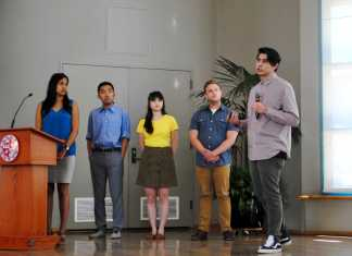 business majors present their projects