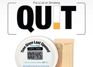 advertisement for timer to keep lighter and cigarettes locked