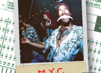 album cover of a Polaroid with MYC written