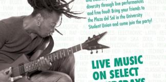 Noontime concert flyer from the CSUN USU