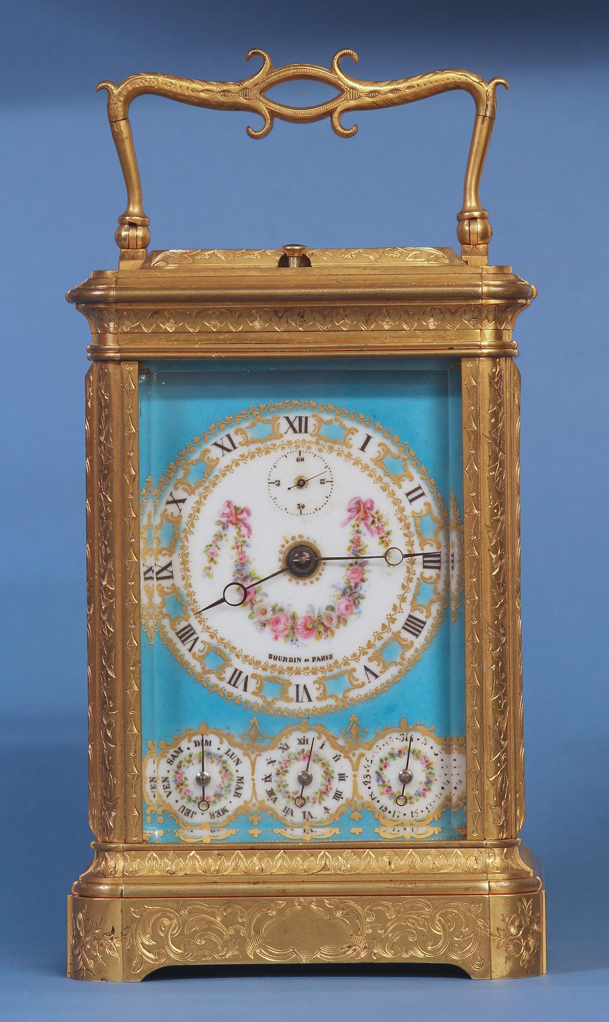 C Exceptional Diminutive French Calendar Carriage