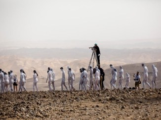 Over 200 pose naked for art installation at Dead Sea