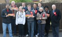Campaigning for Labour in Beaumont Leys
