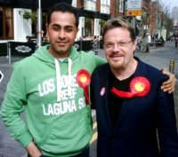 Campaigning for Labour with Eddie Izzard