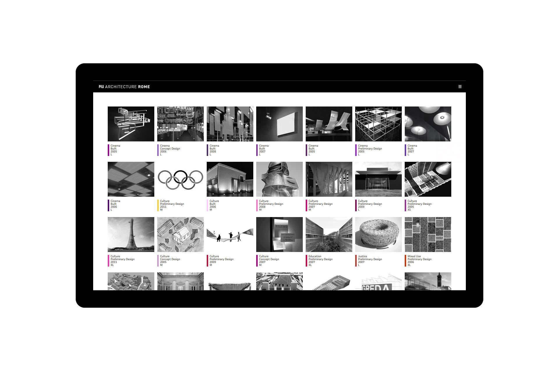 PIU Architecture Rome Website