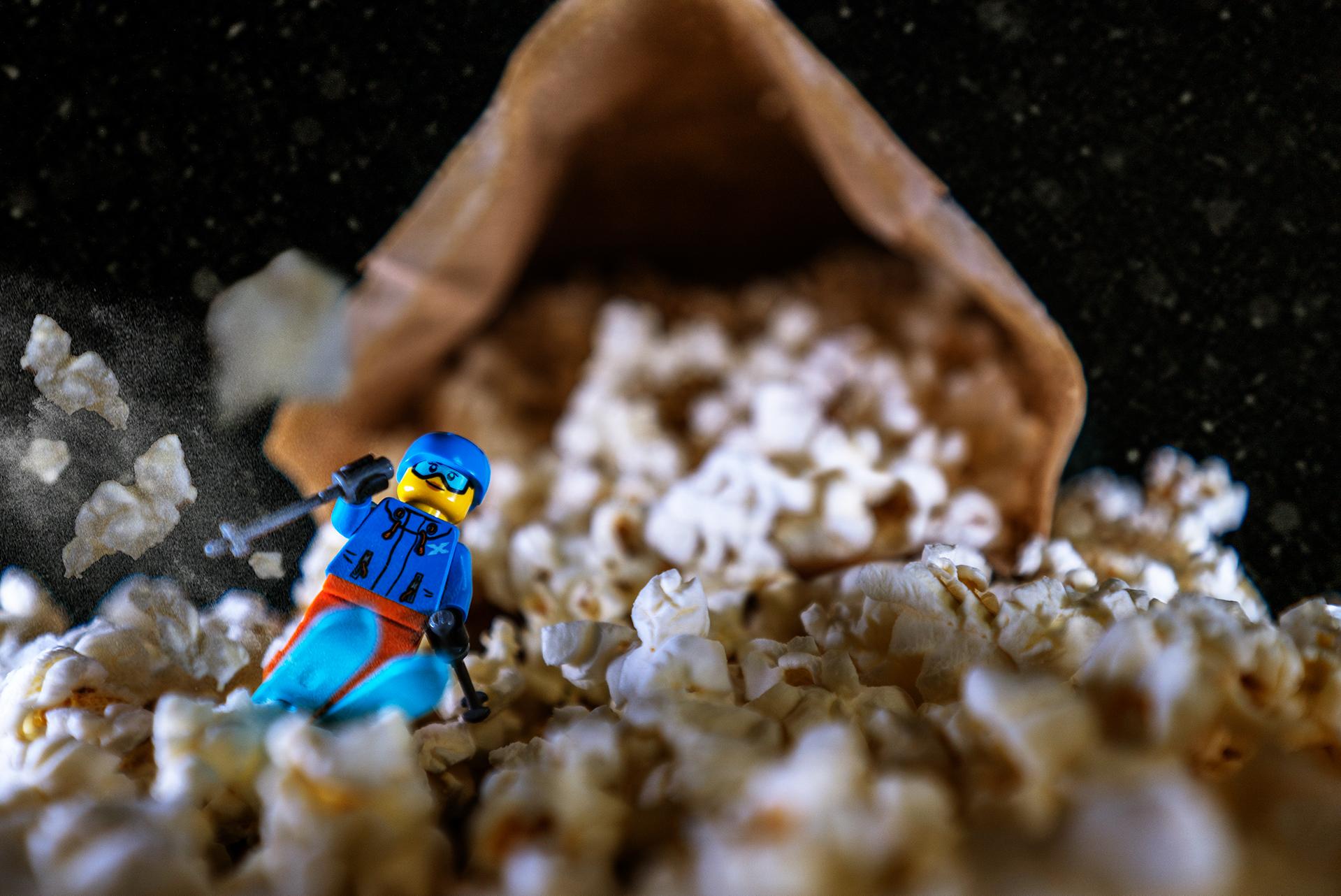 the popcorn skier