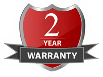 Best in the business - 2 year warranty!