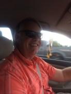 Dave driving to Los Tarascos