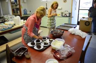 JoAnn Eliuk preparing dessert