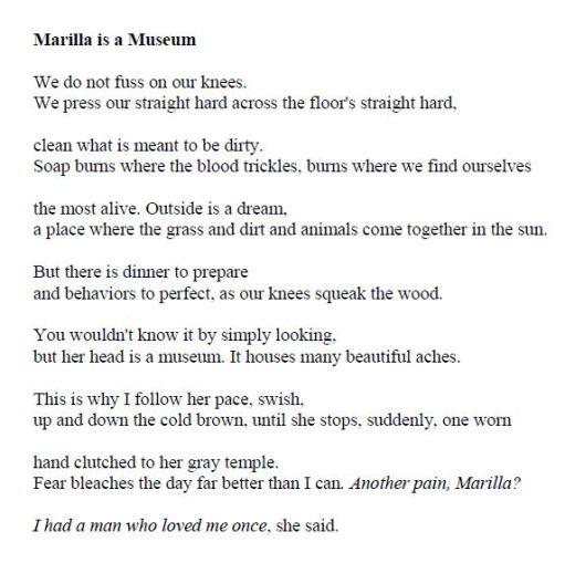 April Michelle Bratten - Marilla Is a Museum p16