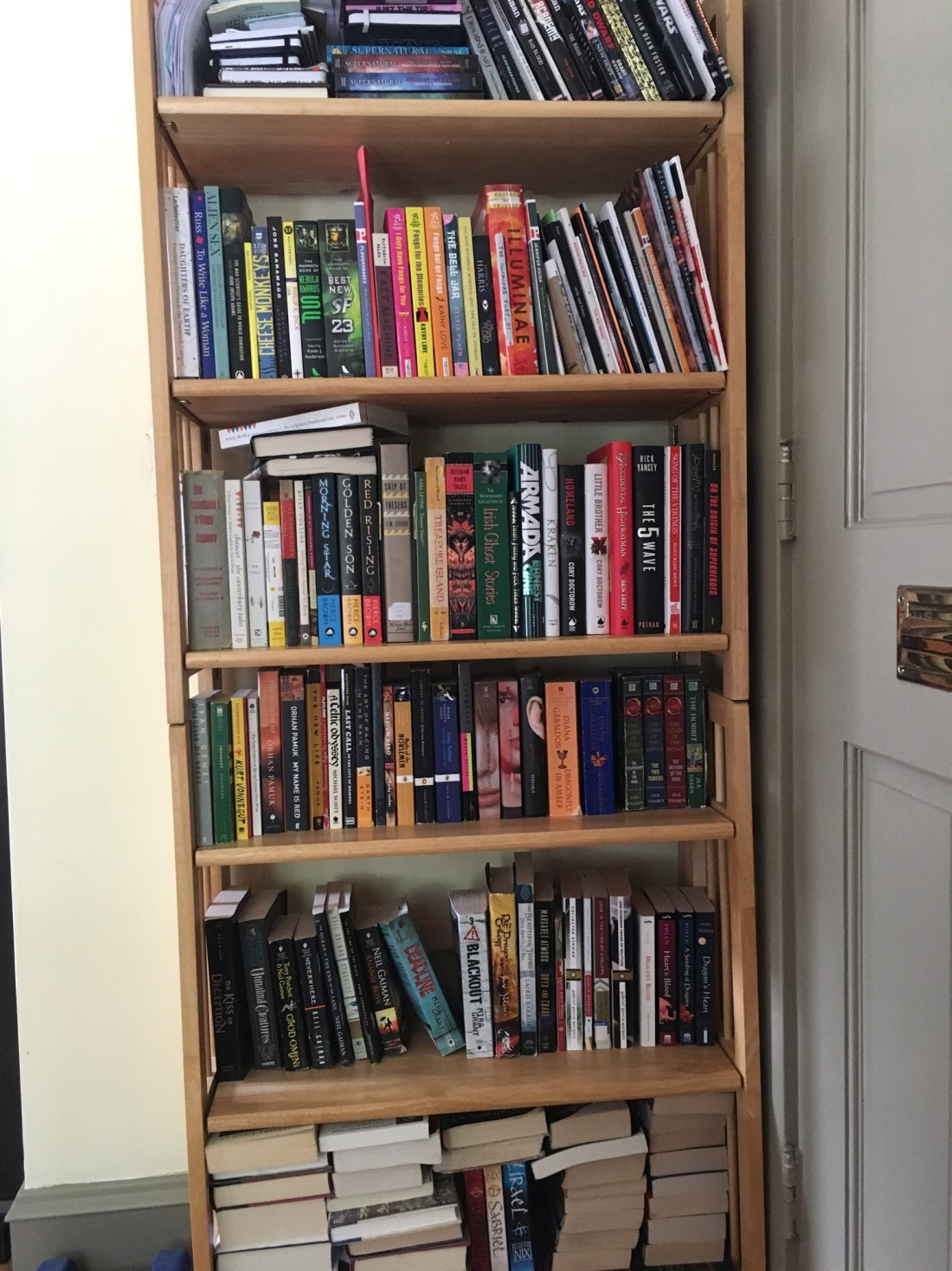 Tierney Bailey bookshelf