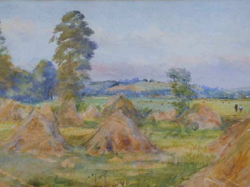 Haymaking at Fittleworth, P Cooke
