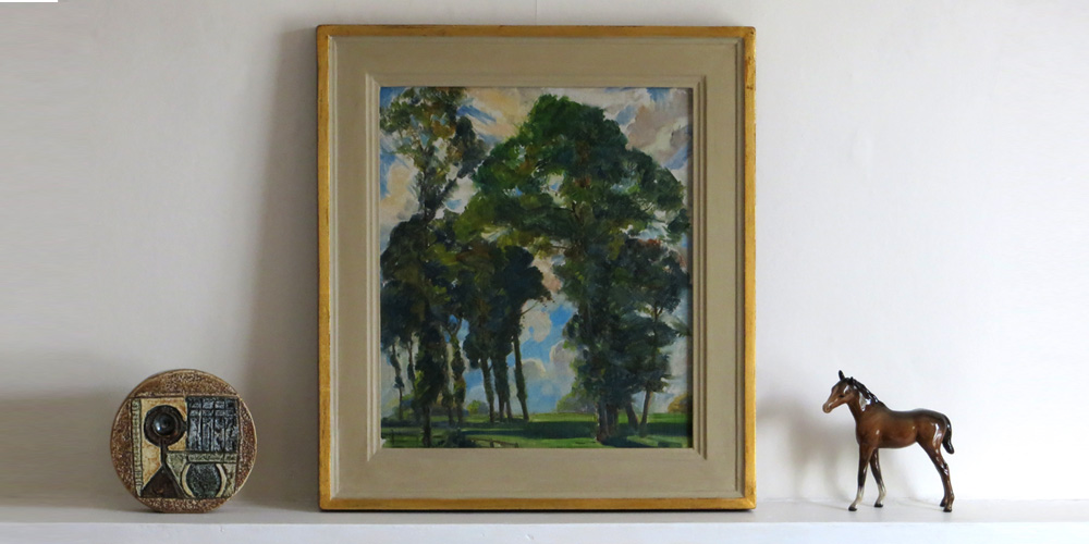 Landscape with trees oils