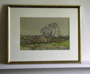 Percy des Carrieres Ballance, A Grey Day in Cornwall, watercolour landscape