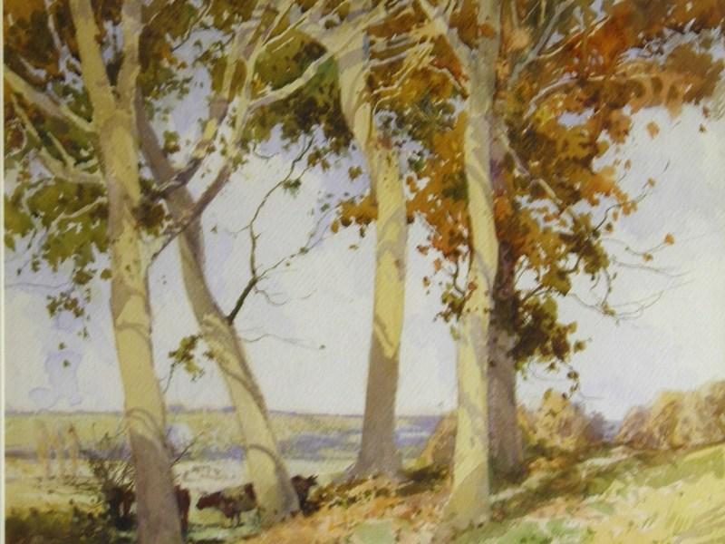 William Tatton Winter RBA, Cattle Grazing, Watercolour landscape
