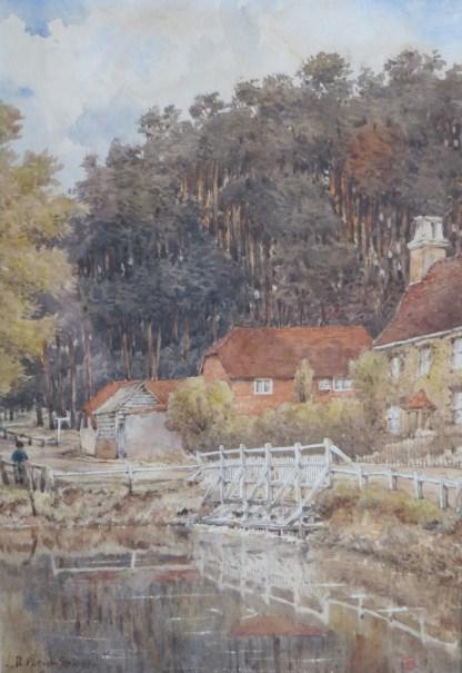Victorian Cottage Scene