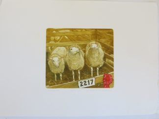 Valerie Christmas Sheep Etching
