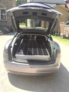 Solar powered, solar panel delivery system.