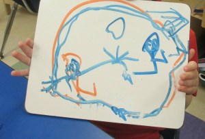 The picture that accompanied B's first story.