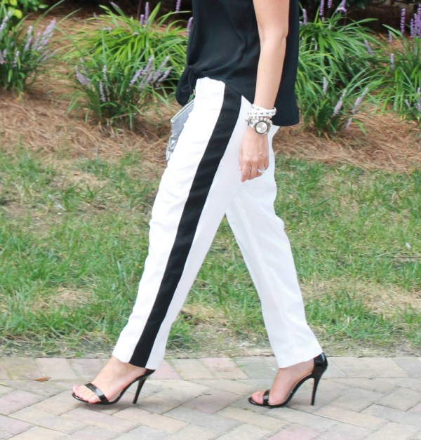 White and Black Jogger Pants