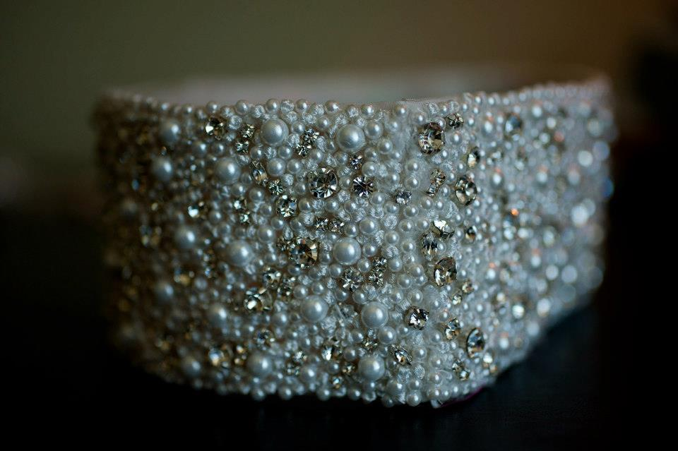 Marisa Beaded and Crystal Wedding Belt