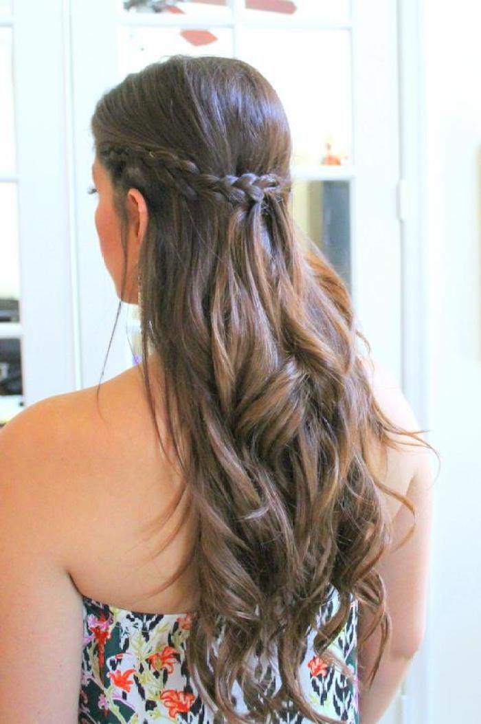 Dutch Braid Half Up Half Down Hairstyle