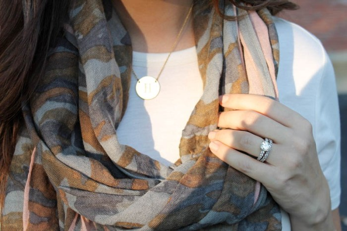 Stella and Dot Initial Necklace