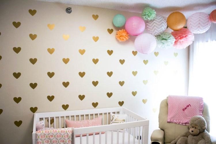Gold, Peach, Mint, Pink nursery