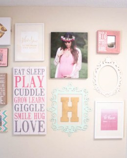 Project Nursery, Nursery Gallery Wall, Baby Room Gallery Wall