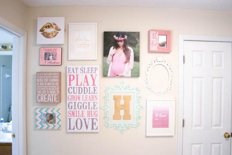 Gallery Wall in baby nursery