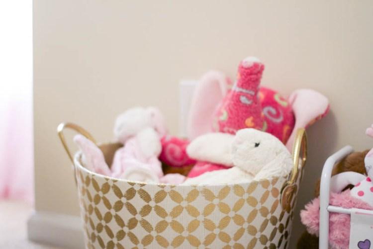 Baby Girl Nursery Toy Storage