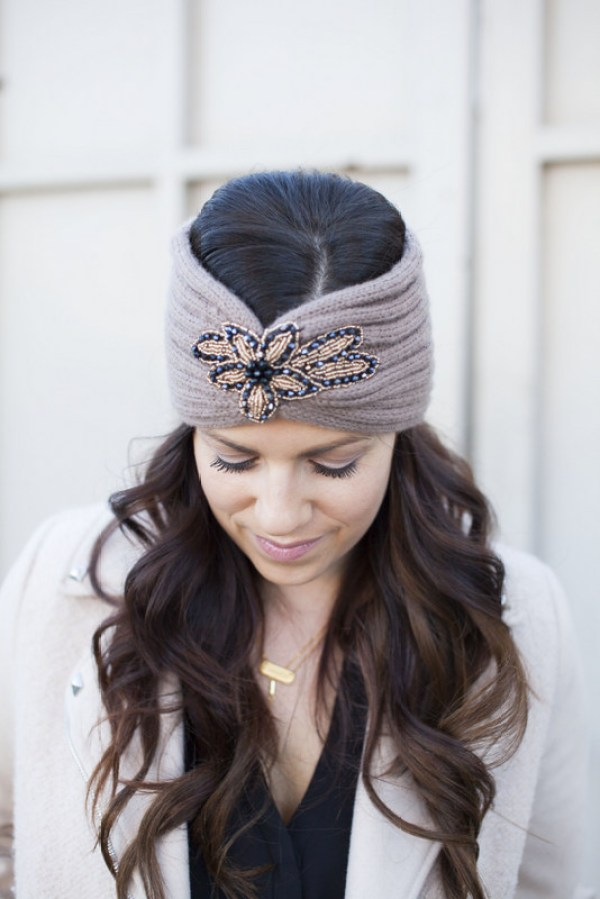 Embellished Winter headband