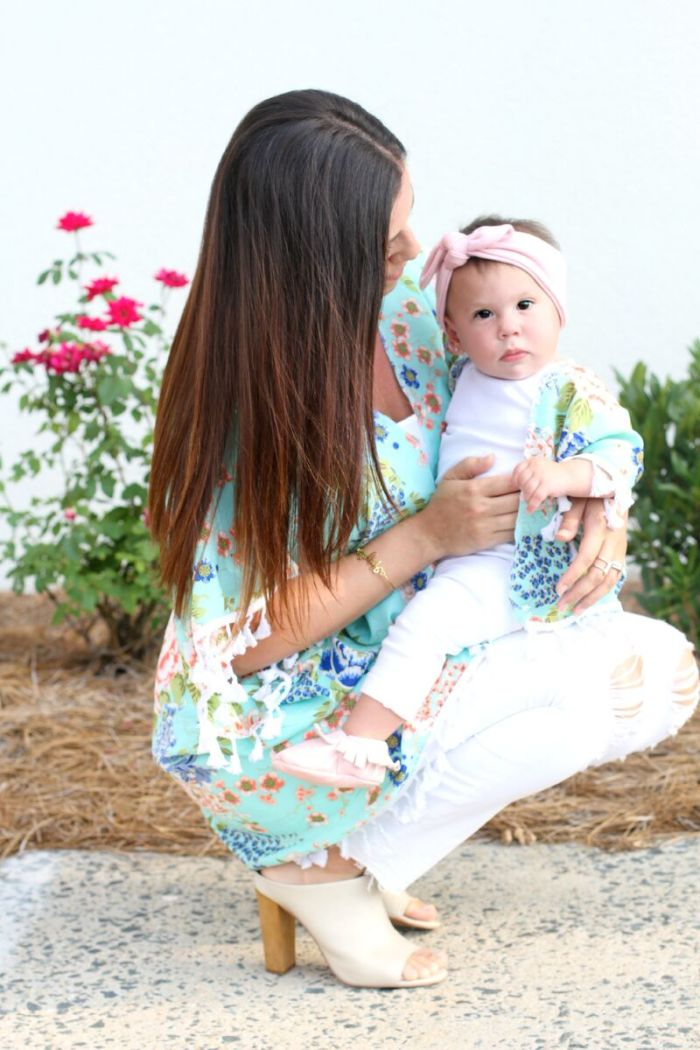 Matching mom and baby kimonos, Mommy and Me Style