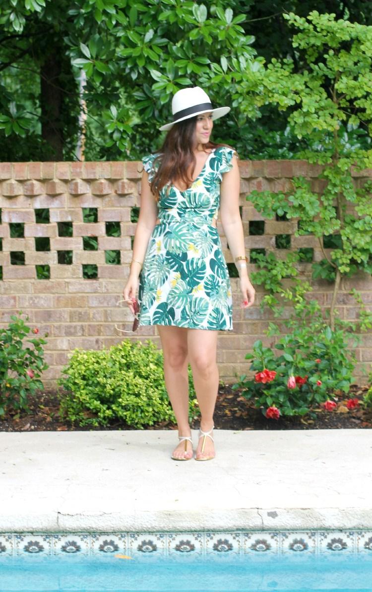 Tropical Leaf Dress