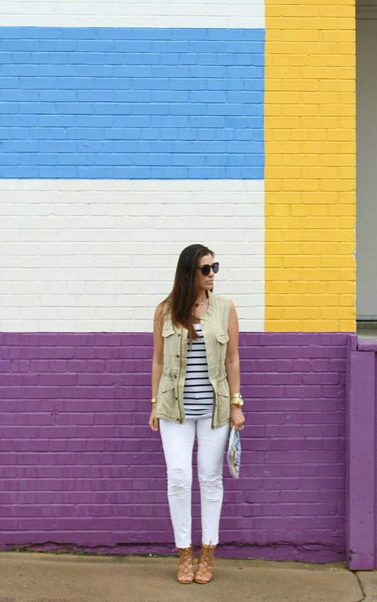How to style a utlity vest.