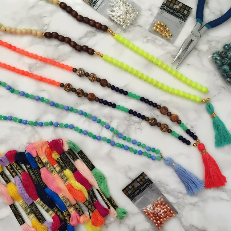 How to make your own tassel necklaces