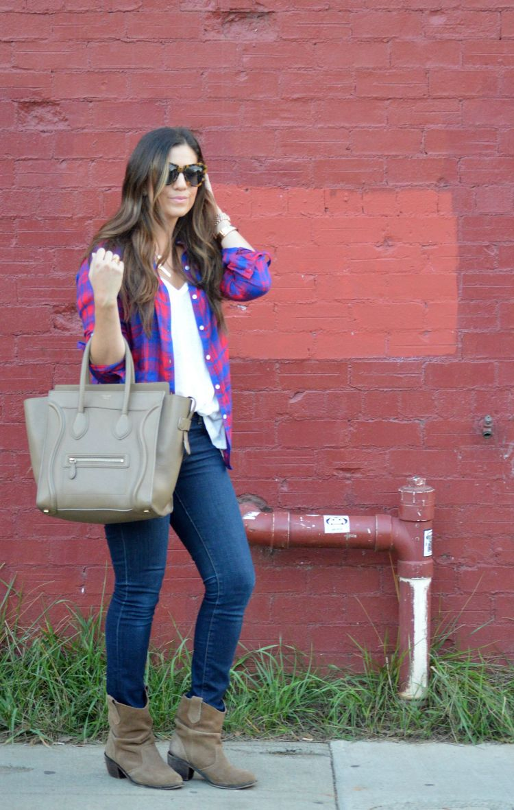 best way to style a plaid shirt