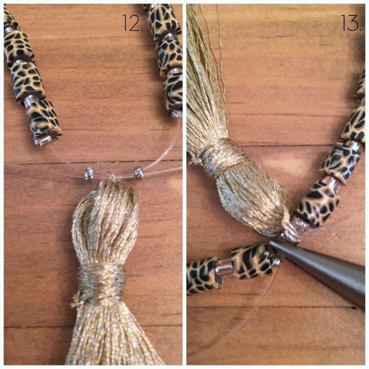 diy tassel necklace and bracelet