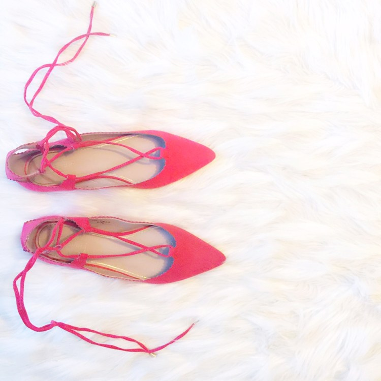 lace up flats, tiptop lace flats, red laceup flats