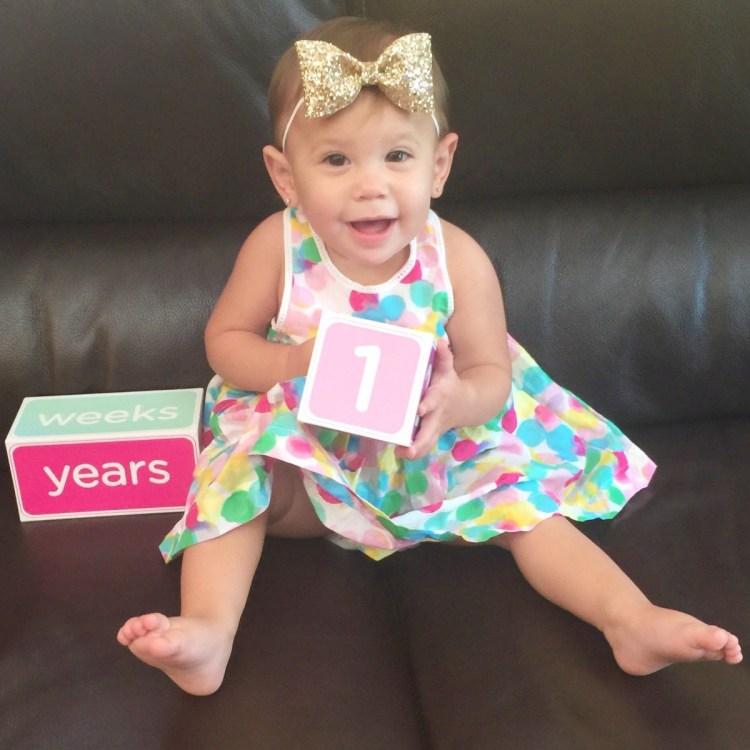 baby's first birthday, age blocks