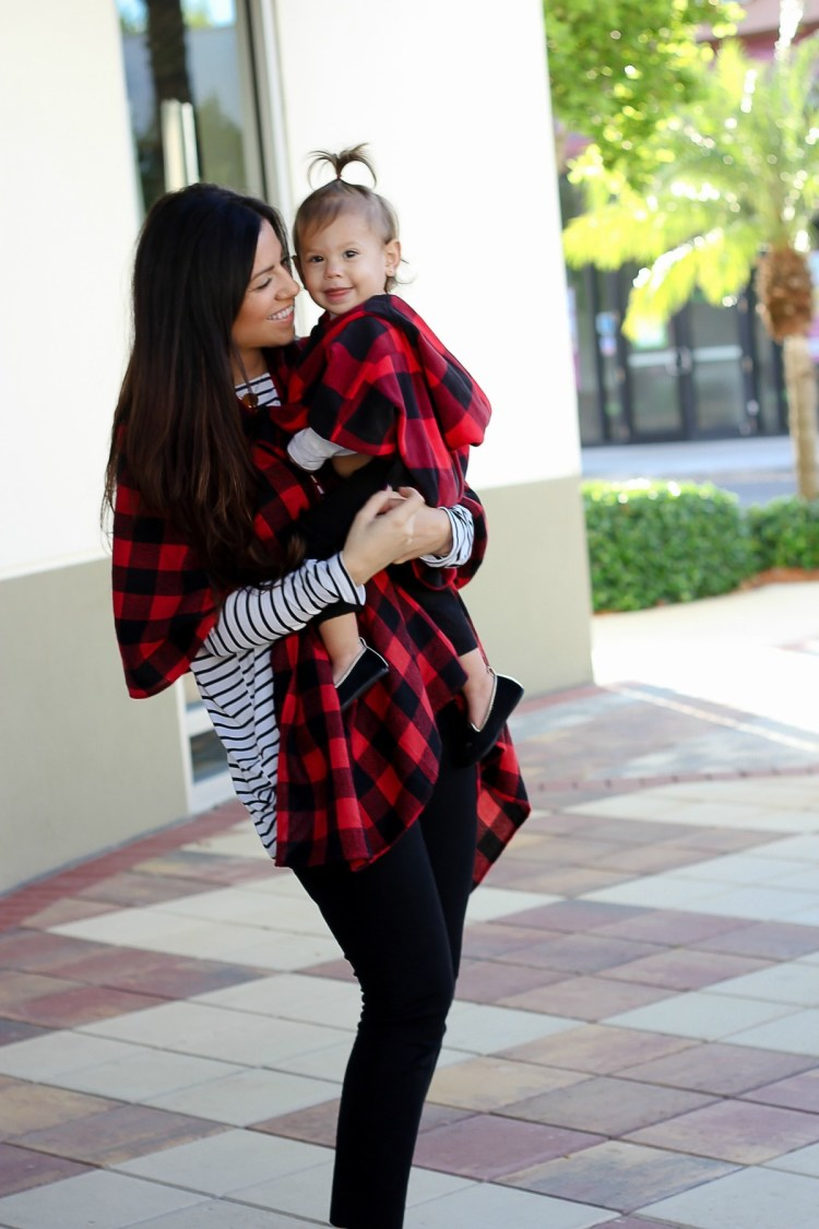 mother daughter holiday shoot, holiday shoot outfit ideas, red buffalo check outfit