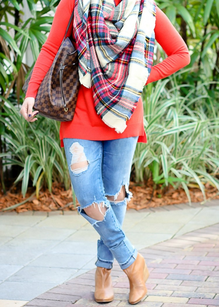 colorful plaid blanket scarf, asos oversized scarf