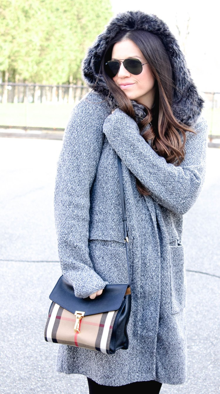 faux fur hooded sweater, Jaime Cittadino, Fashion blogger