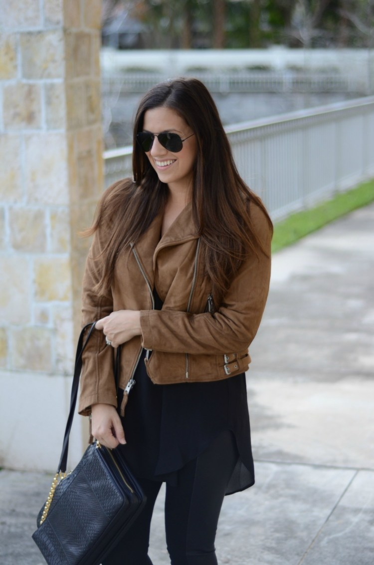 brown leather jacket, Jaime Cittadino, Fashion blogger