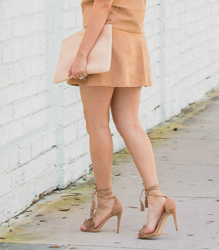 lace up tassel heels, fringe heels
