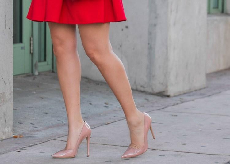 nude patent heels, blush patent heels