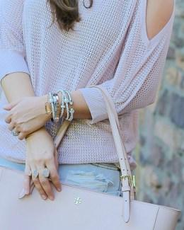 blush on blush outift, south florida fashion blogger