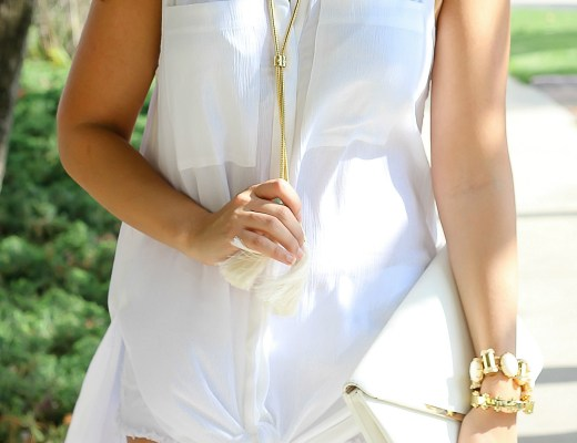 white and gold outfit inso, lele sadoughi slider bracelet