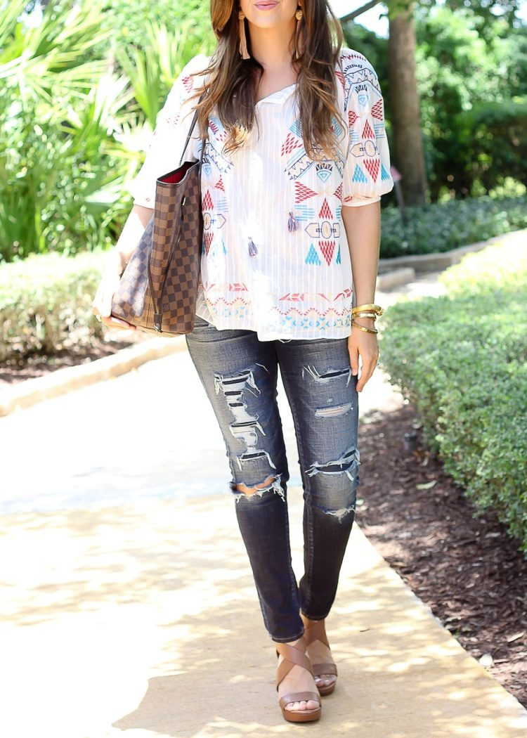 chicwish boho embroidered top